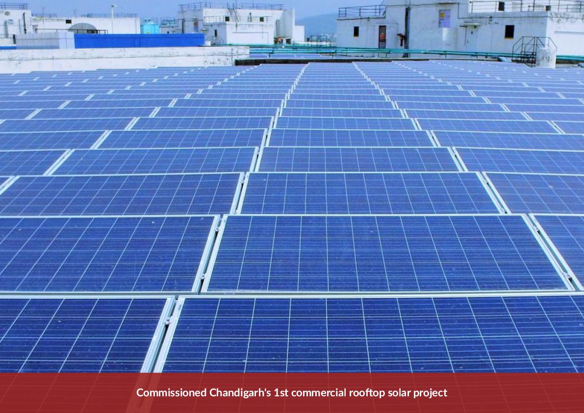 Hartek Power enters Chandigarh's rooftop solar segment, executes city's First project in Commercial Category