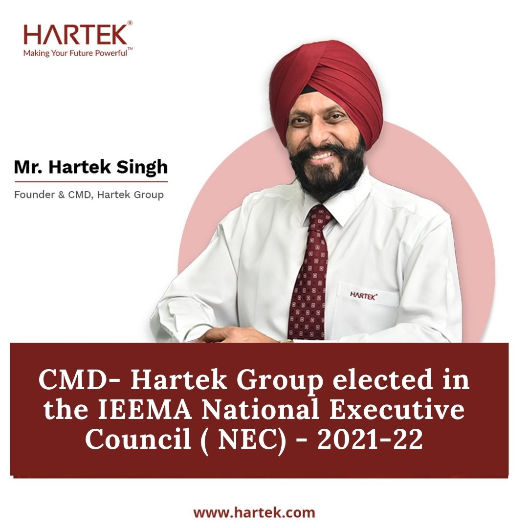 CMD-Hartek Group elected in the IEEMA National Executive Council (NEC) - 2021-22