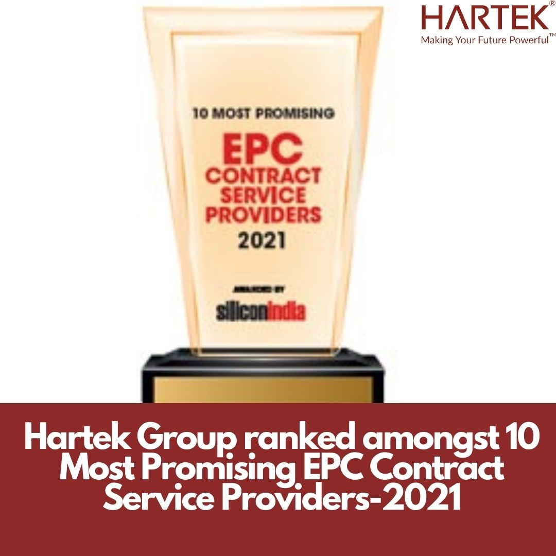 Hartek Group ranked amongst 10 Most Promising EPC Contract Service Providers-2021